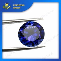 loose blue colored round brilliant cut sapphire