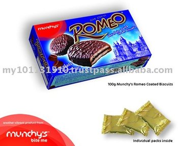 Munchy's Romeo Coated Biscuits 100g