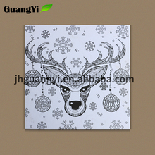 Wholesale blank customize canvas unpainted colouring pictures for kids
