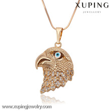 2016 Xuping cool jewelry gold plated eagle pendant with many Zircon