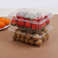 Various Size Transparent Fruit Tray for Bluebarry,Strawbarry and Orange