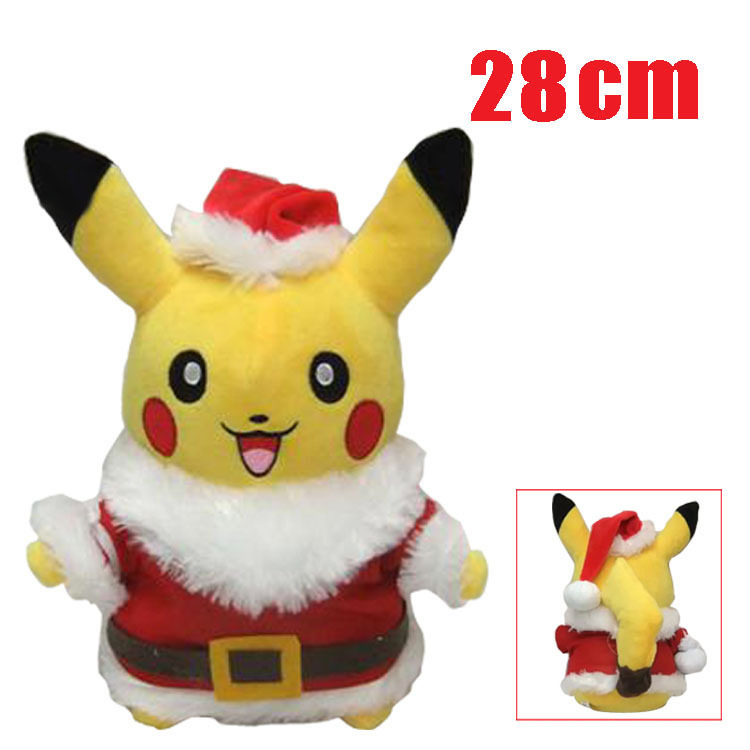 Hotsale customized 28cm pokemon pikachu plush toys christmas gifts
