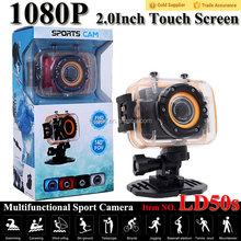 the best seller out door sport action camcorder with touch screen and waterproof sport camera from shenzhen