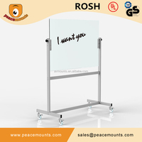 GB03 Business used freestanding magnetic movable glossy surface color customized portable interactive whiteboard