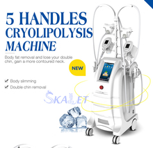 Best 6 cryolipolysis handles for fat cell freezing Reduction body shaping new design double chin removal machine