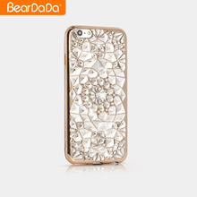 Guangzhou Wholesale shockproof bumper case tpu crystal bling phone cover for iphone 7