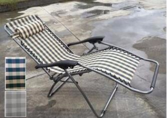 PVC Strap Reclining Chaise Lounge Chair Outdoor Swimming Poolside Aluminum Beach Sun Lounger