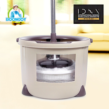 Boomjoy PD-03 new hot selling 360 easy plastic magic double spin mop with high quality