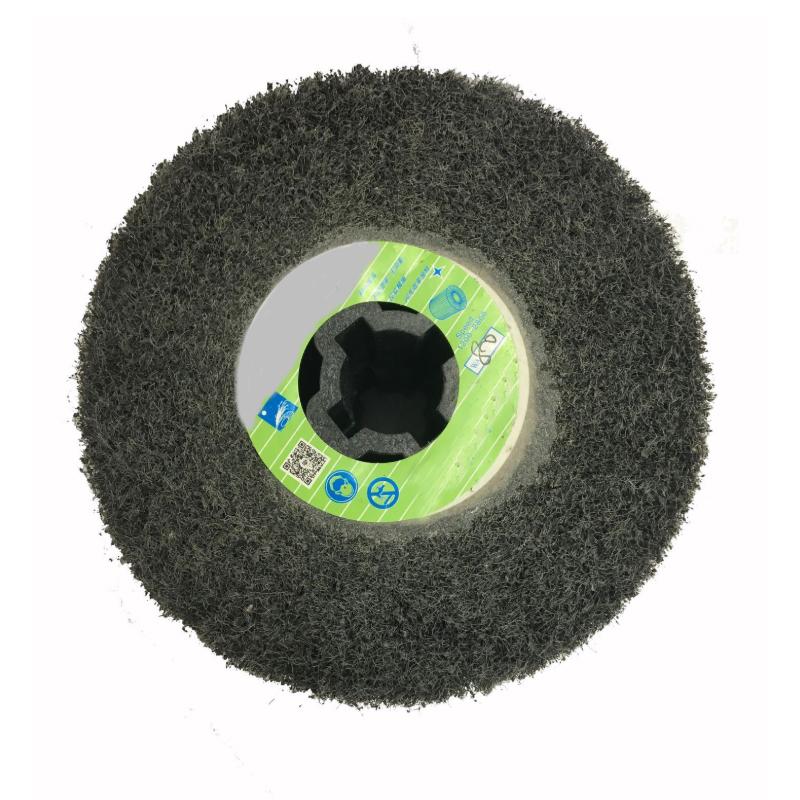 Non-woven Nylon Polishing Abrasive Flap Wheel for Wood, Metal , Stainless Steel  A-004