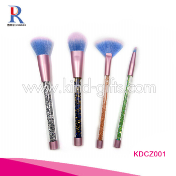 High Sale Bling Rhinestone Decoration Small Fancy Durable Jeweled Makeup Brush Set Wholesale