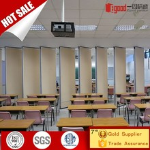 Vertical gypsum board sliding folding partitions wall for classroom dividing