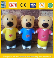 custom pvc money saving box, cartoon bear money saving boxes, custom plastic piggy bank manufacturer