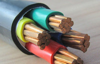 0.6/1kv XLPE Insulated PVC Jacket Power Cable 4x95mm2 cable to IEC 60502