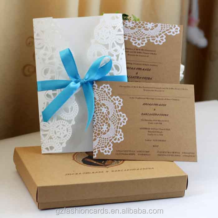 2014 New Luxury Laser Cut Wedding Invitations