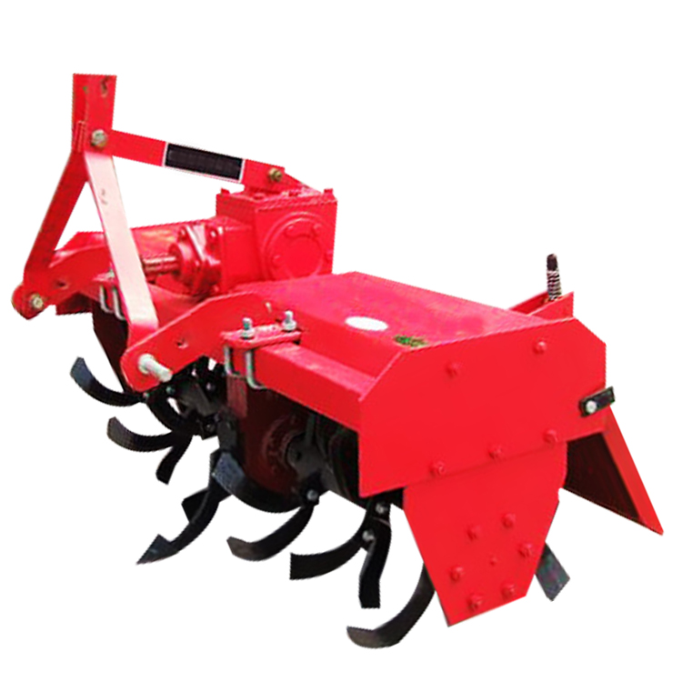 Walk behind tractor with rotary tiller