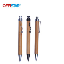 Offistar Stationery Decorative Recycled Bamboo + Plastic Eco Ballpoint Pen