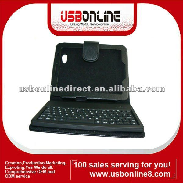 Wireless Bluetooth Keyboard Leather case for Samsung Galaxy Tab For P6200