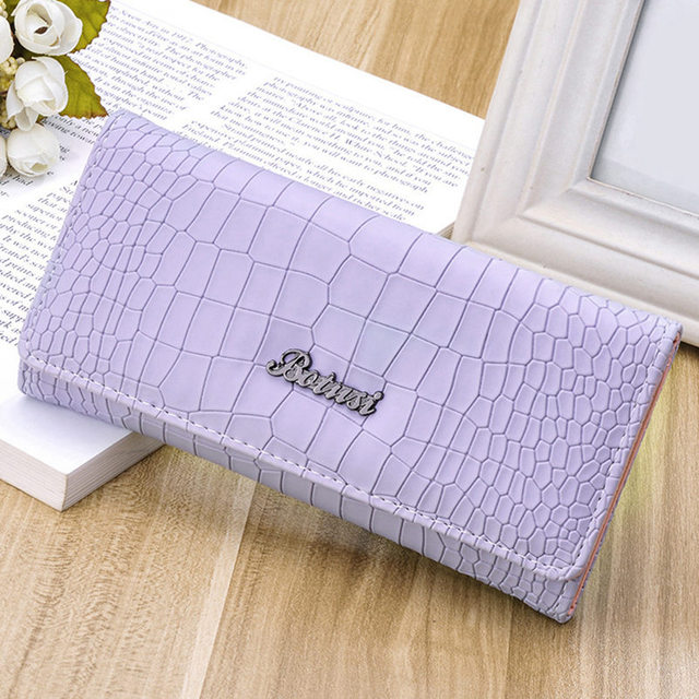 2016 Fashion Ladies Brand Handy Long Wallet Women Luxury Leather Credit Card Holder Money Wallets and Purse for Female Girls