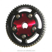 Aluminum adjustable cam pulley gear for automobile