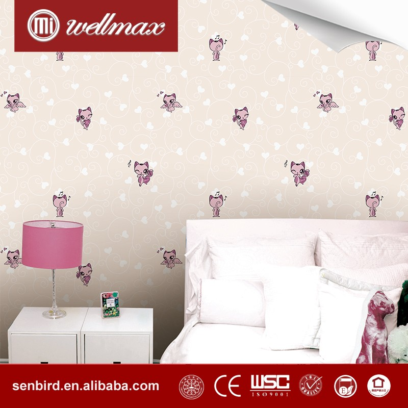 Wellmax Fashion kids room wall decor wallpaper kids decorative wallpaper/ baby wallcoverings