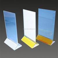 fancy acrylic /perspex menu holder printing plexiglass /perspex menu display for restaurant wholesale