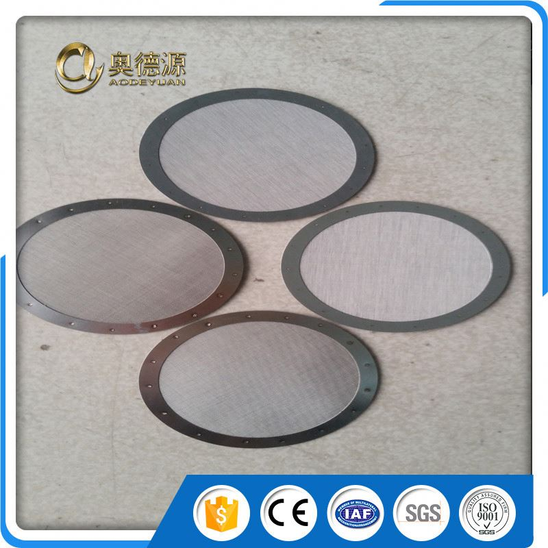 custom micron stainless steel coffee filter screen disc wire mesh