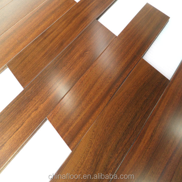 high density prefinished natural color African Iroko solid wood flooring