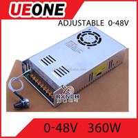 0-48V adjustable power supply ac dc 48v 360W switching power supply