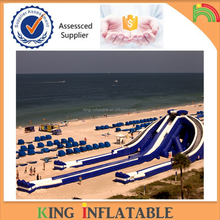 Top Quality Giant Three lanes Trippo Inflatable Water Slide