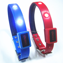 flexible soft tpu led dog collar for pet protection