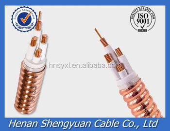 Flexible mineral insulated fire resistant power cable with Copper sheath