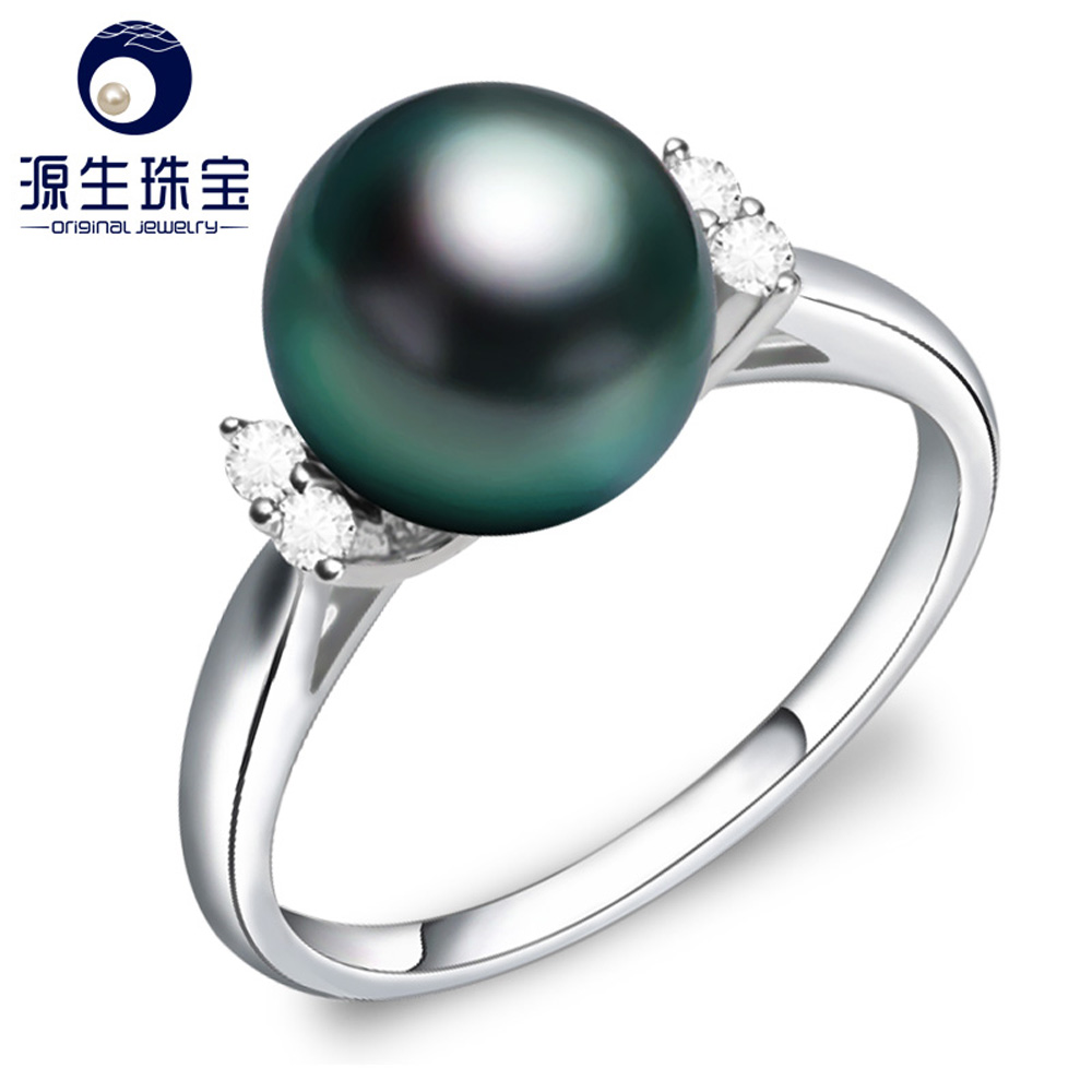 punk style long size indian pearl jewellery design ring for women