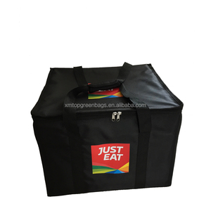 Customized pizza delivery bag food thermal delivery insulated cooler bag