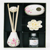 wholesale water air freshener sola flower diffuser with ceramic bottle in gift set