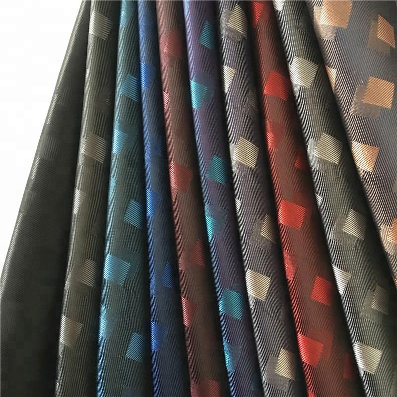 100%<strong>polyester</strong> jacquard fabric check design cationic <strong>polyester</strong> lining fabrics for coat and jacket and suit garment