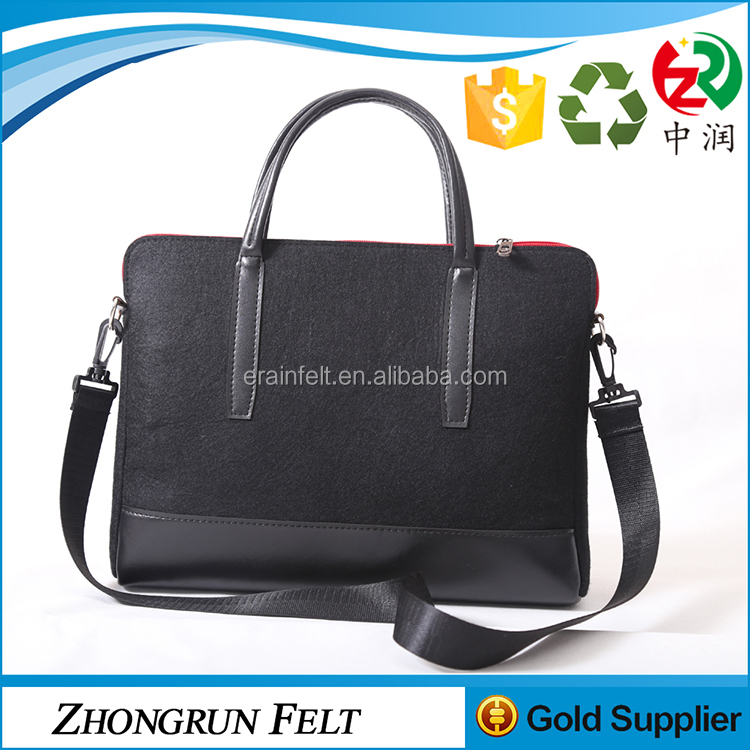2017 promotional men felt office bags