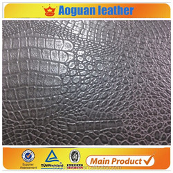 2016 Cheap PVC crocodile leather for sofa in Guangzhou