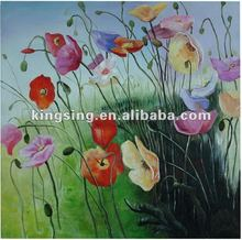 doodle style canvas flower oil painting for bedroom