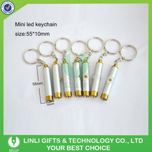 Cheap Giveaways Items Mini Metal Projector Keychain, Laser Pointer Torch Keyring, Projection Torch Keychain