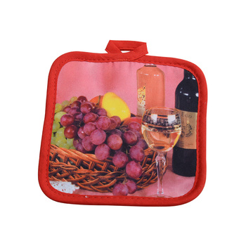 Grapes & Wine Pattern Pot Holders