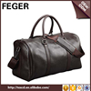 FEGER fashionable business mens genuine leather travel bag