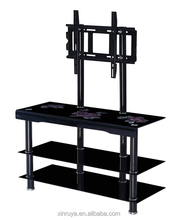 Lcd Design Low Price Glass Tv Table