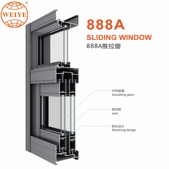 80mm side seal wood grain <strong>aluminium</strong> sliding windows with long life sevice
