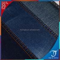 OEM quality polyester cotton jacquard wholesale jeans garment using organic lycra spandex denim cotton fabric
