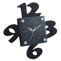 Black creative decorative digital wall clock