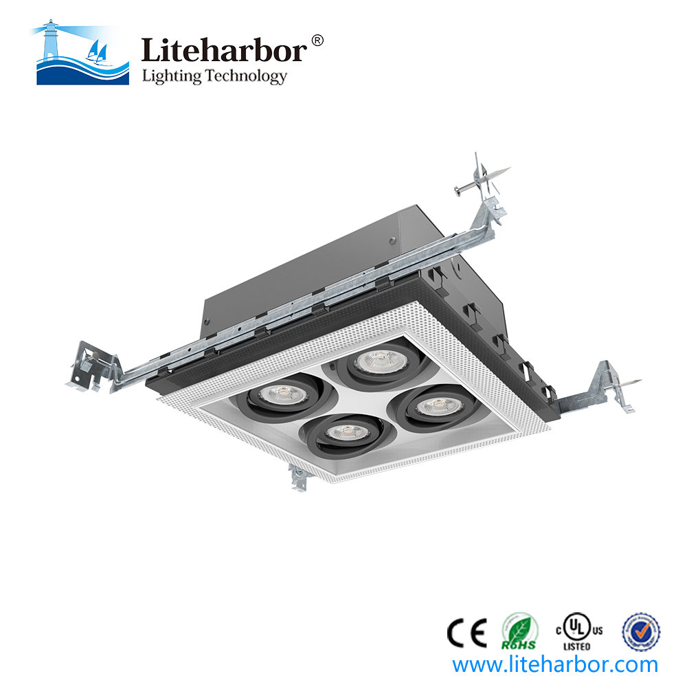 high-end living room 120V recessed mounted grill led square downlight for new construction
