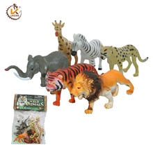 6pcs Wild Forest Animal Set Mini Plastic Tiger Toys