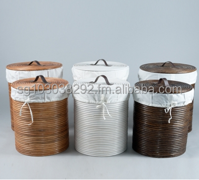Rattan Hamper with Linen set