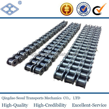 ISO DIN standard steel short pitch 44.45mm C28B-2 duplex staight side plate transmission roller chain