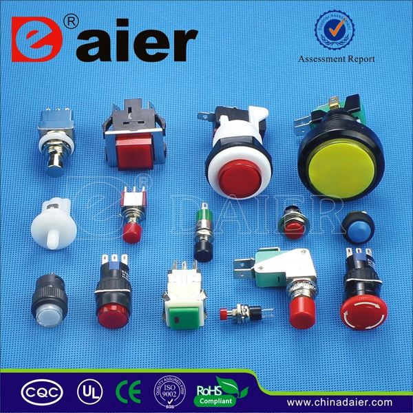Daier key operated push button switch